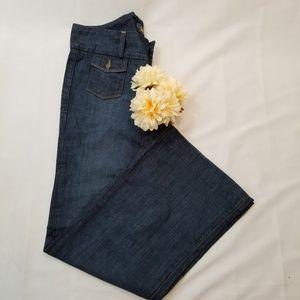 🍀Lucky Brand Blue Thick Waist Wide Leg Jean